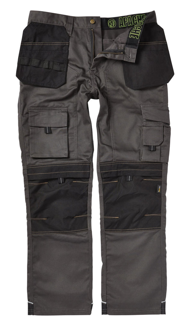 Apache APKHT Kneepad Holster Trousers Grey Black - Clothing - Trade Building Products