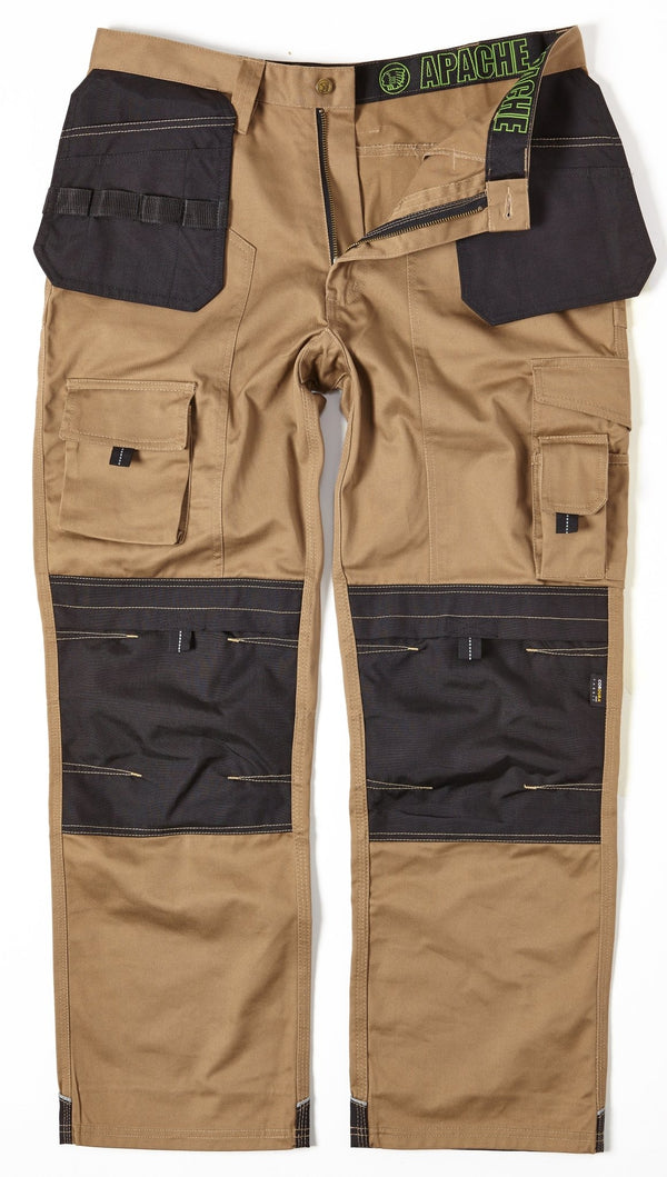 Apache APKHT Kneepad Holster Trousers Stone - Clothing - Trade Building Products