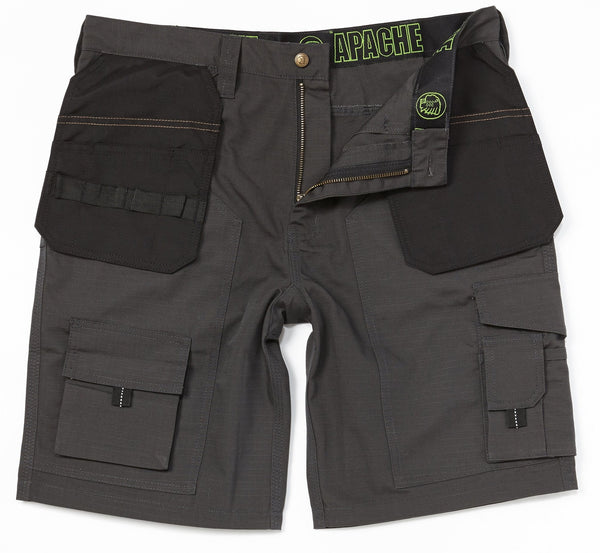 Apache APKHT Rip Stop Short Grey Black - Clothing - Trade Building Products