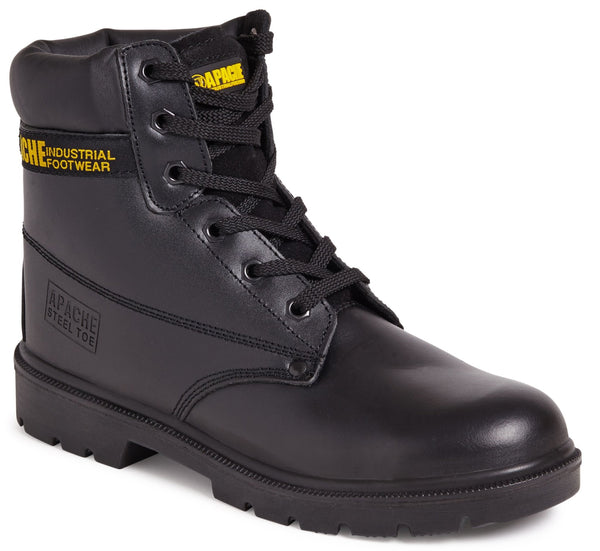 Apache Black Water Resistant Safety Boot with Mid-Sole - Clothing - Trade Building Products