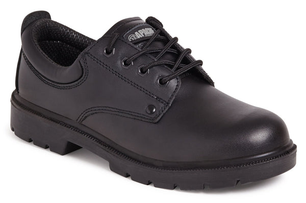 Apache Black Water Resistant Safety Shoe with Mid-Sole - Clothing - Trade Building Products