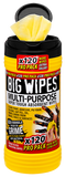Big Wipes Multi-Purpose 4x4 Antibacterial Wipes - 120 Tub - Cleaners - Trade Building Products