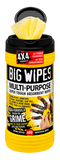 Big Wipes Multi-Purpose 4x4 Antibacterial Wipes - 80 Tub - Cleaners - Trade Building Products