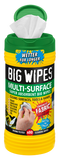 Big Wipes Multi-Surface 4x4 Antibacterial Wipes - 80 Tub - Cleaners - Trade Building Products