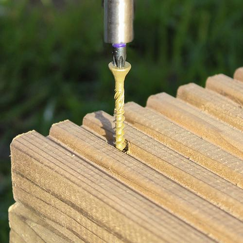 C2 Advanced Decking Timber Screws - TX - Countersunk - Exterior - Green - Fixings - Trade Building Products