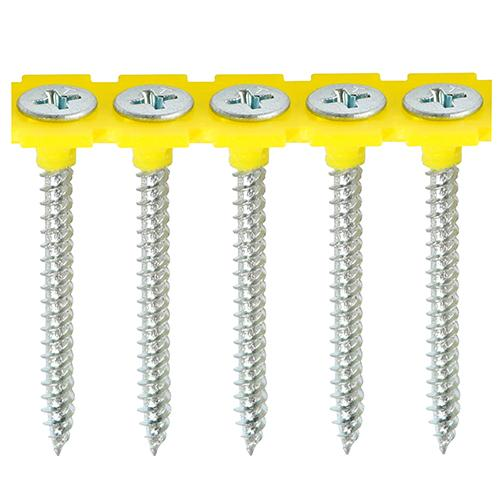 Collated Drywall Screws - Fine Thread - PH - Bugle - Zinc - Box 1000 - Fixings - Trade Building Products