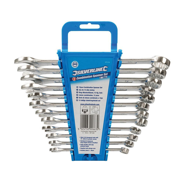 Combination Spanner Set 12pce - Hand Tools - Trade Building Products