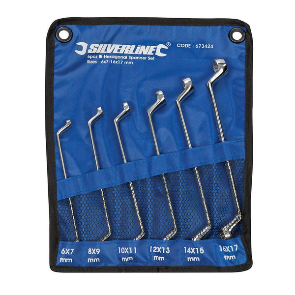 Deep Offset Ring Spanners Set 6pce - Hand Tools - Trade Building Products