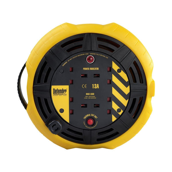 Defender 10M 1.25mm Cassette Reel - Cable Reel - Trade Building Products