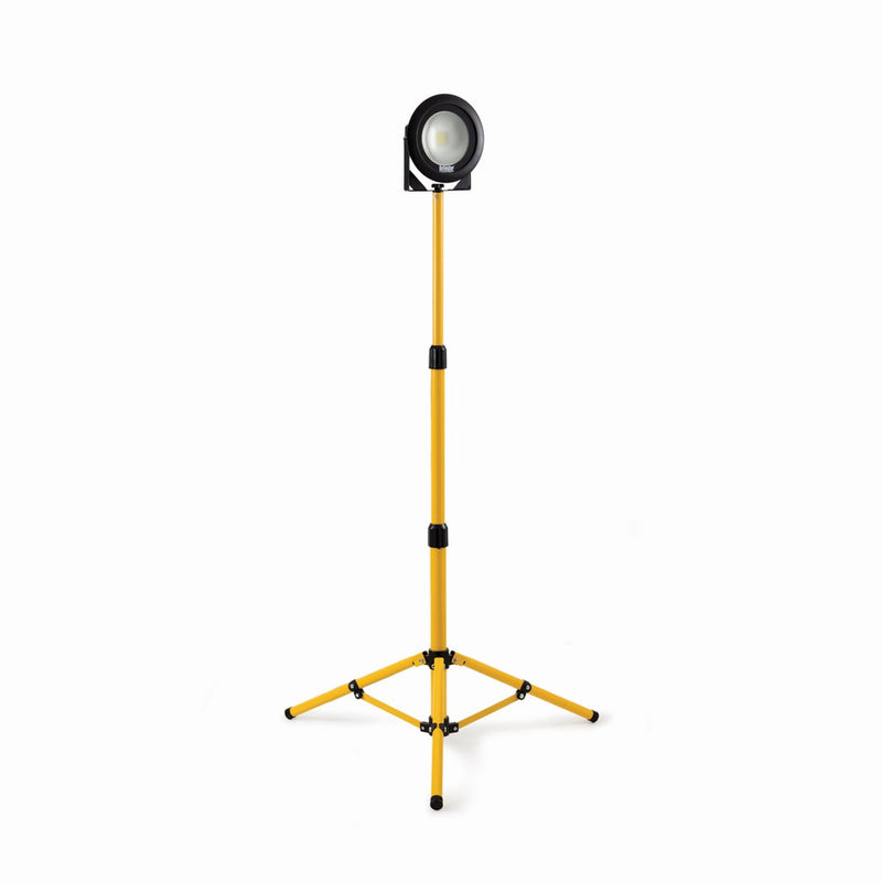 Defender DF1200- 20W LED Single Head Work Light with Telescopic Tripod - Flood Light - Trade Building Products