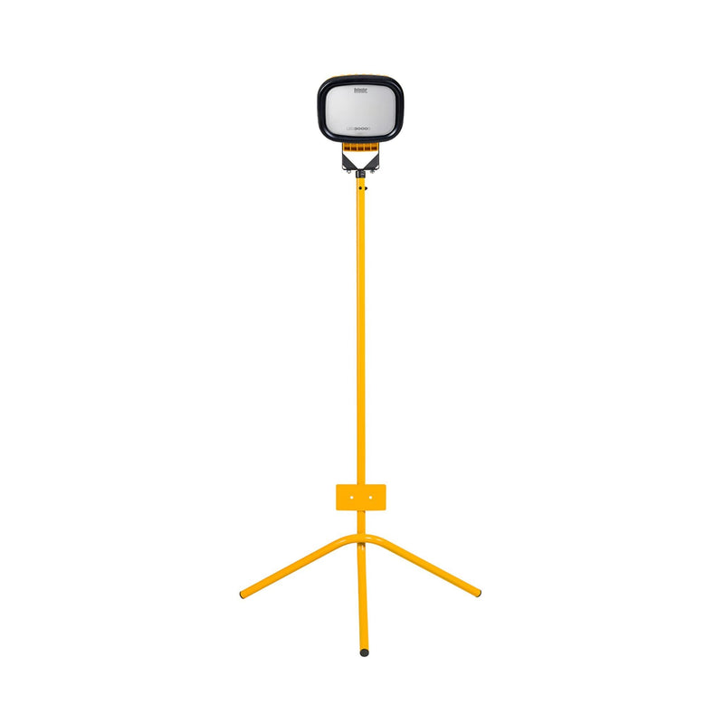 Defender LED3000S Single Flood Light With Fixed Leg Tripod - Flood Light - Trade Building Products