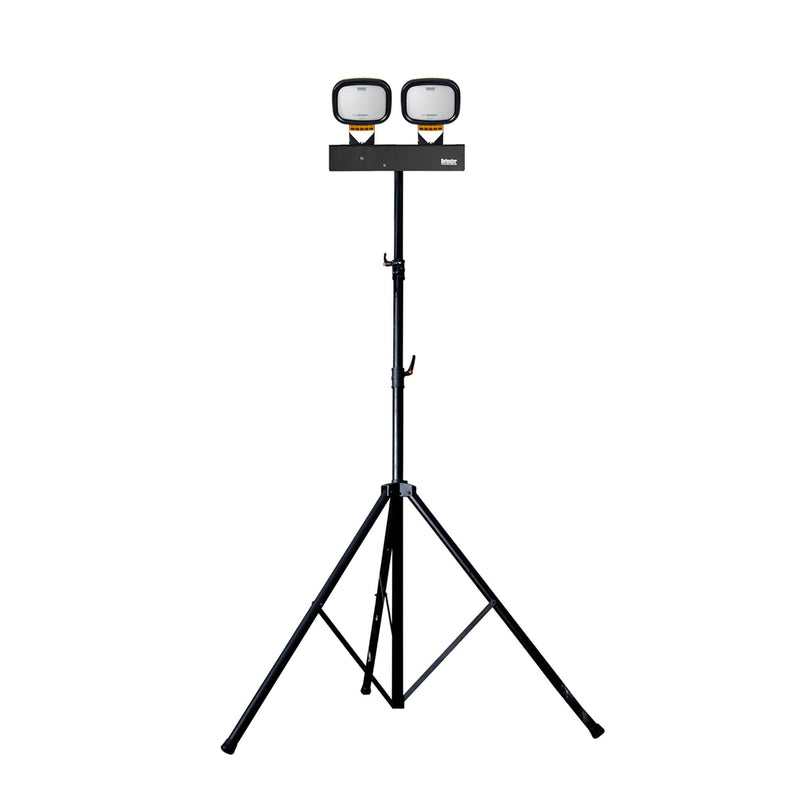 Defender LED6000S Twin Head Floodlight with Swing Leg Tripod - Flood Light - Trade Building Products