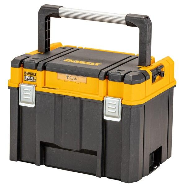 Dewalt DWST83343-1 TSTAK IP54 Organiser Top Deep Box - Tool Storage - Trade Building Products