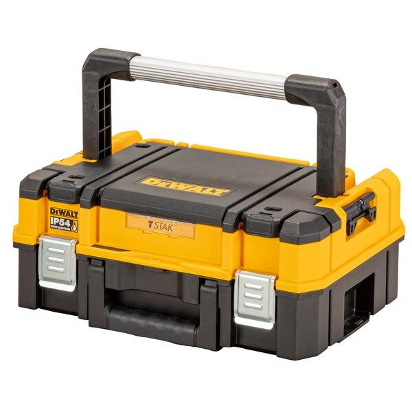 Dewalt DWST83344-1 TSTAK IP54 Organiser Top Shallow Box - Tool Storage - Trade Building Products
