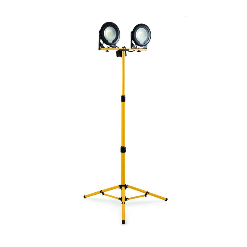 DF1200- 20W LED Twin Head Work Light with Telescopic Tripod 110V - Flood Light - Trade Building Products