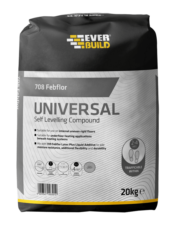 Everbuild 708 Febflor Universal Self Level Floor Compound - Self Levelling Compound - Trade Building Products