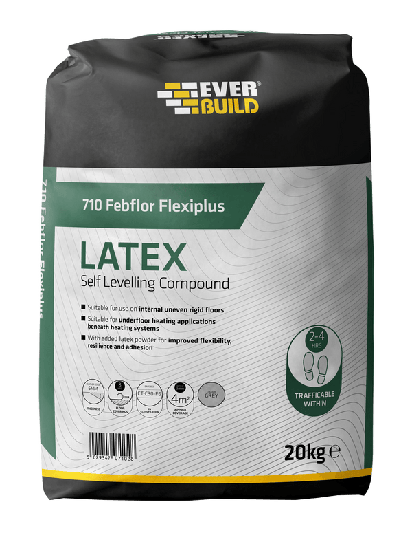 Everbuild 710 Febflor Flexiplus Latex - Self Levelling Floor Compound - Self Levelling Compound - Trade Building Products