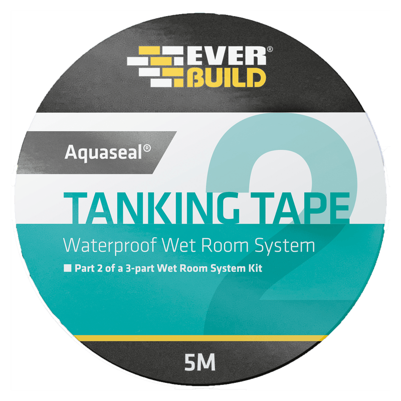 Everbuild Aquaseal Waterproof Tanking Tape - Wet Room Kit - Trade Building Products