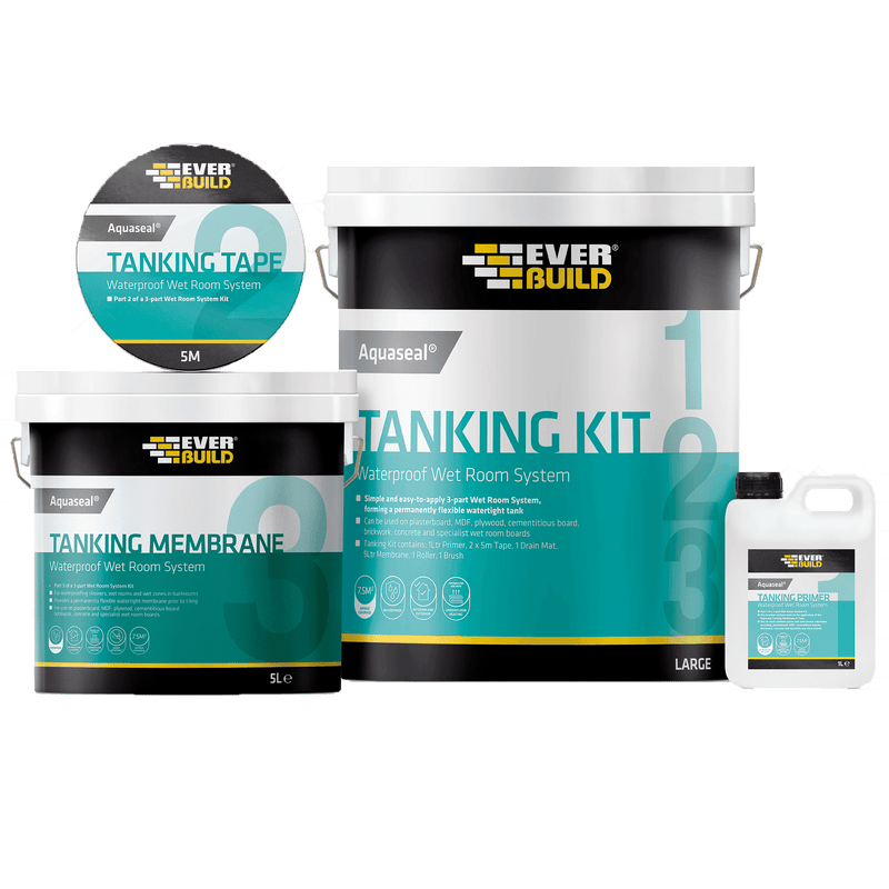 Everbuild Aquaseal Wet Room System Tanking Kit - Wet Room Kit - Trade Building Products