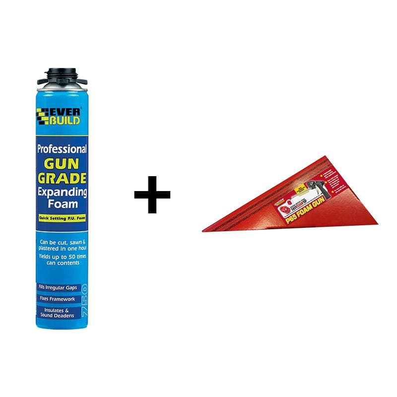 Everbuild Gun Grade Expanding Foam - 750ML - - Expanding Foam - Trade Building Products