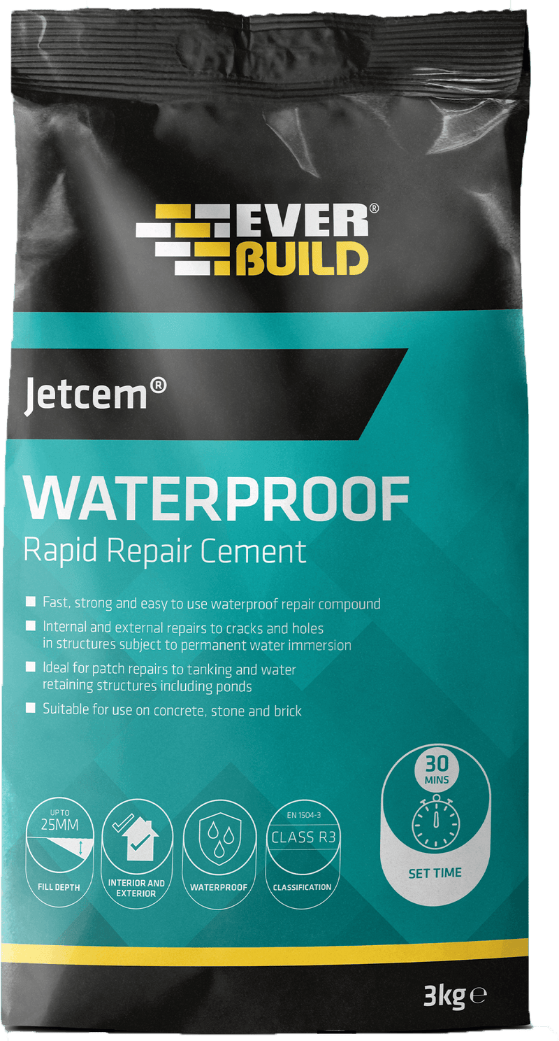 Everbuild Jetcem Waterproofing Rapid Repair Cement - Cement - Trade Building Products