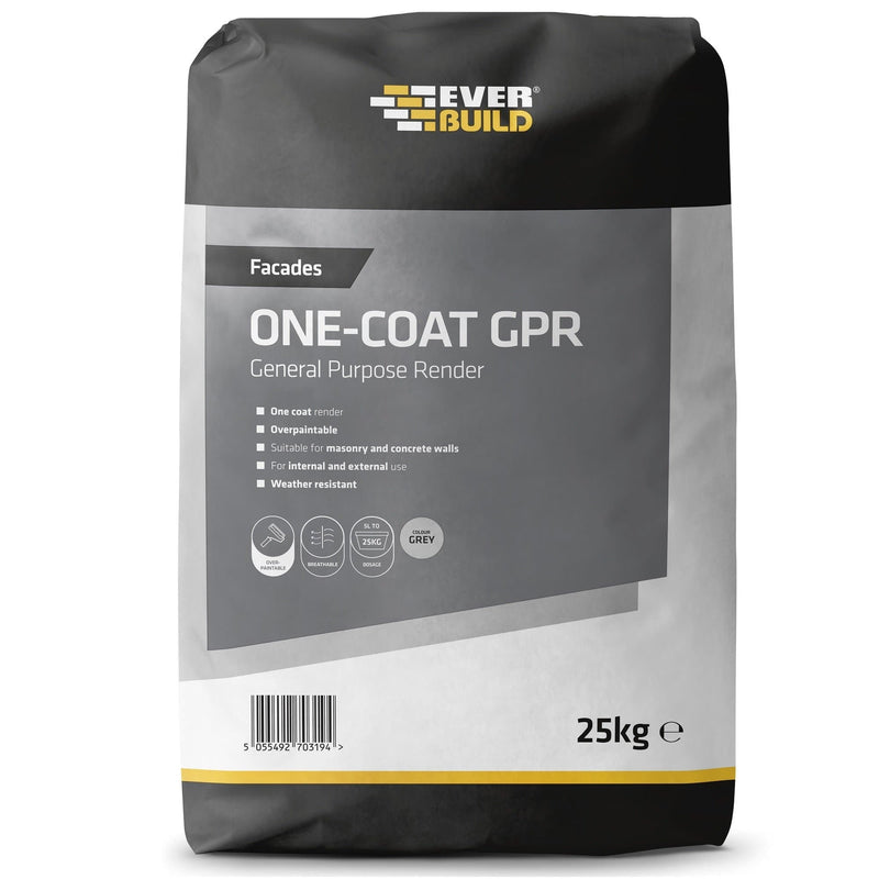 Everbuild One-Coat General Purpose Render (GPR) - One Coat Render - Trade Building Products