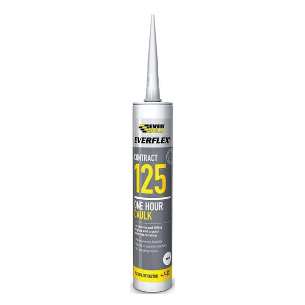 Everflex 125 One Hour Trade Caulk - 380ML - - Caulk - Trade Building Products