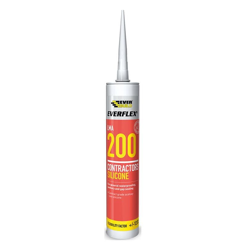 Everflex 200 Contractors LMA Silicone - 295ML - - Sealant - Trade Building Products