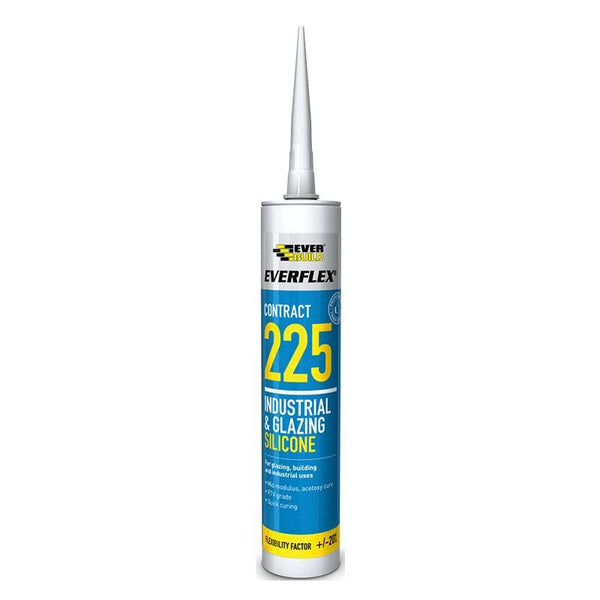 Everflex 225 Industrial & Glazing Silicone - 295ML - - Sealant - Trade Building Products