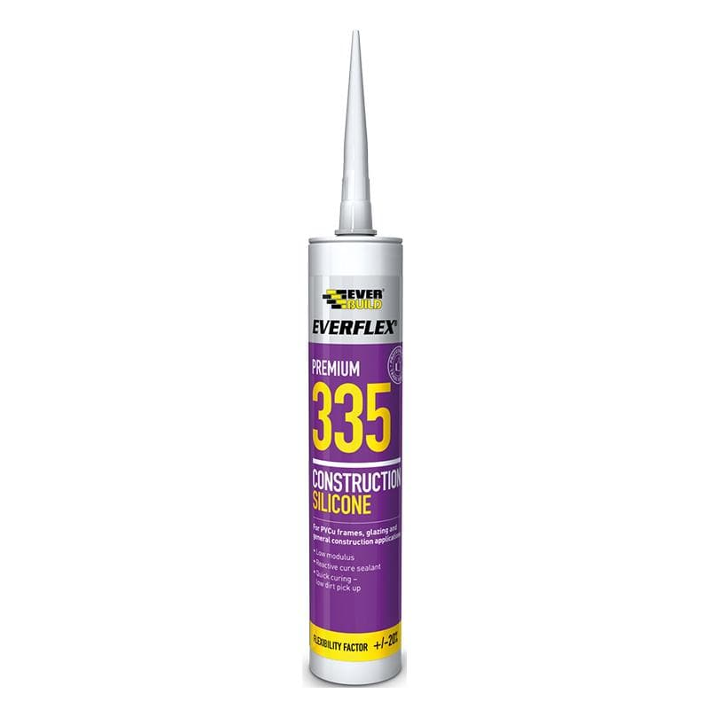 Everflex 335 Construction Silicone - 295ML - - Sealant - Trade Building Products