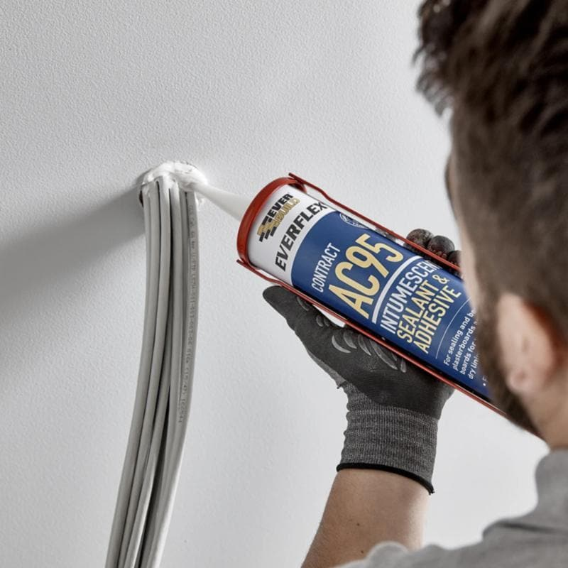 Everflex AC95 Intumescent Acoustic Sealant & Adhesive - - Sealant - Trade Building Products