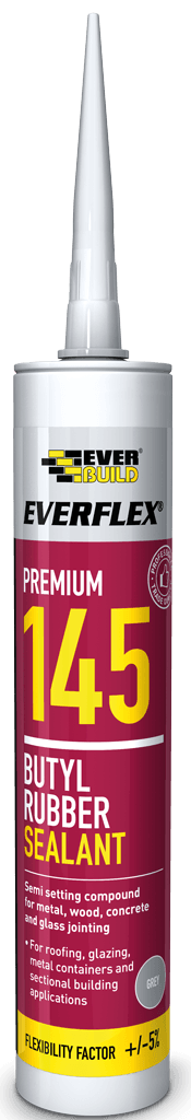 Everflex Premium 145 Butyl Rubber Sealant - 300ML - Cement Colourant - Trade Building Products