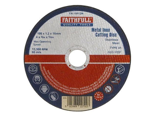 Faithfull Stainless Steel Cutting Disc - Cutting Discs - Trade Building Products