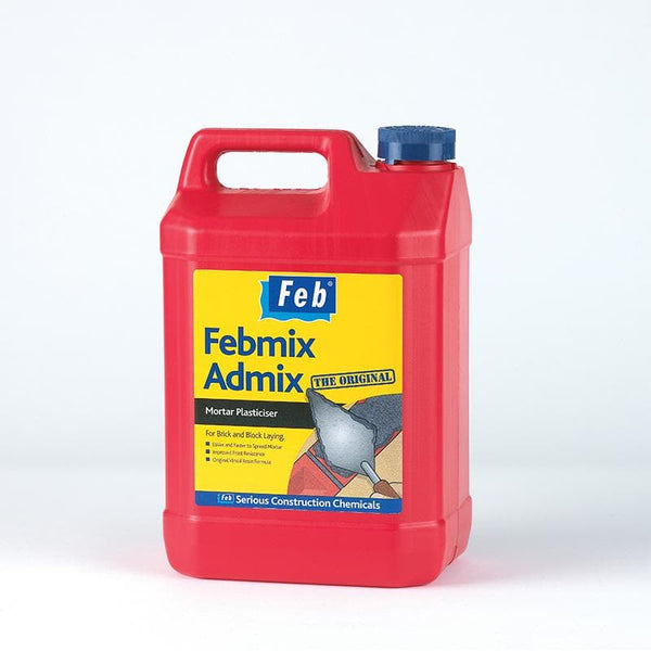 Febmix Admix - The Original Mortar Plasticiser - - Mortar Plasticiser - Trade Building Products