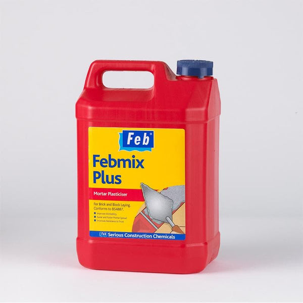 Febmix Plus - Air Entraining Mortar Plasticiser - - Mortar Plasticiser - Trade Building Products