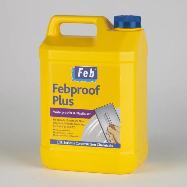 Febproof Plus - Waterproofer and Plasticiser - - Mortar Plasticiser - Trade Building Products