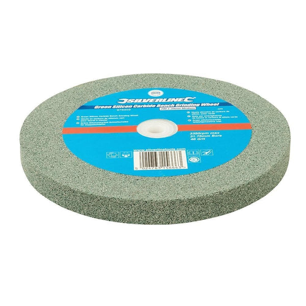 Green Silicon Carbide Bench Grinding Wheel - Medium - 200mm - Power Tool Accessories - Trade Building Products
