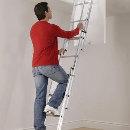 Manthorpe Three Part Loft Ladder - GLL257 - Loft Ladder - Trade Building Products
