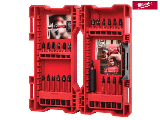 Milwaukee GEN II Shockwave Impact Duty Assorted Bit Set, 24 Piece - Power Tool Accessories - Trade Building Products