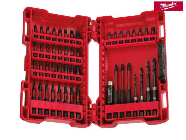 Milwaukee GEN II Shockwave Impact Duty Assorted Bit Set, 48 Piece - Power Tool Accessories - Trade Building Products