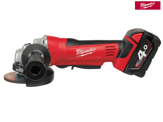 Milwaukee HD18 AG-402 Angle Grinder 115Mm 18V 2 X 4.0Ah Li-Ion - Power Tools - Trade Building Products