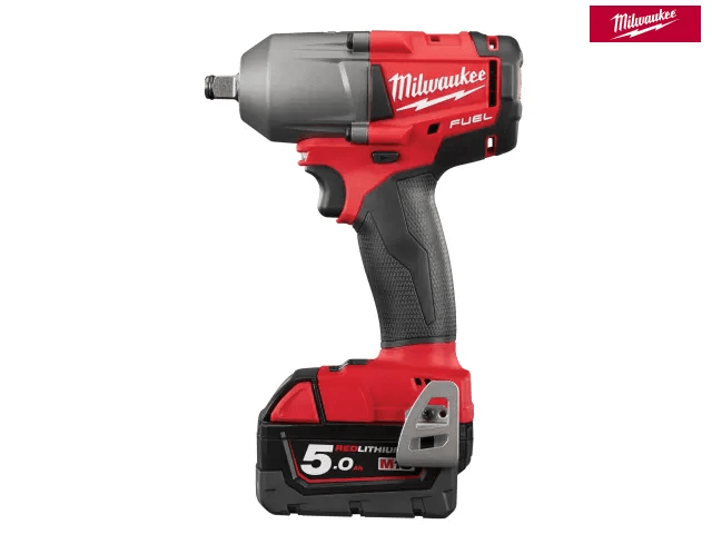 Milwaukee M18 FMTIWF12-502X 1/2In Friction Ring Impact Wrench 18V 2 X 5.0Ah Li-ion - Power Tools - Trade Building Products