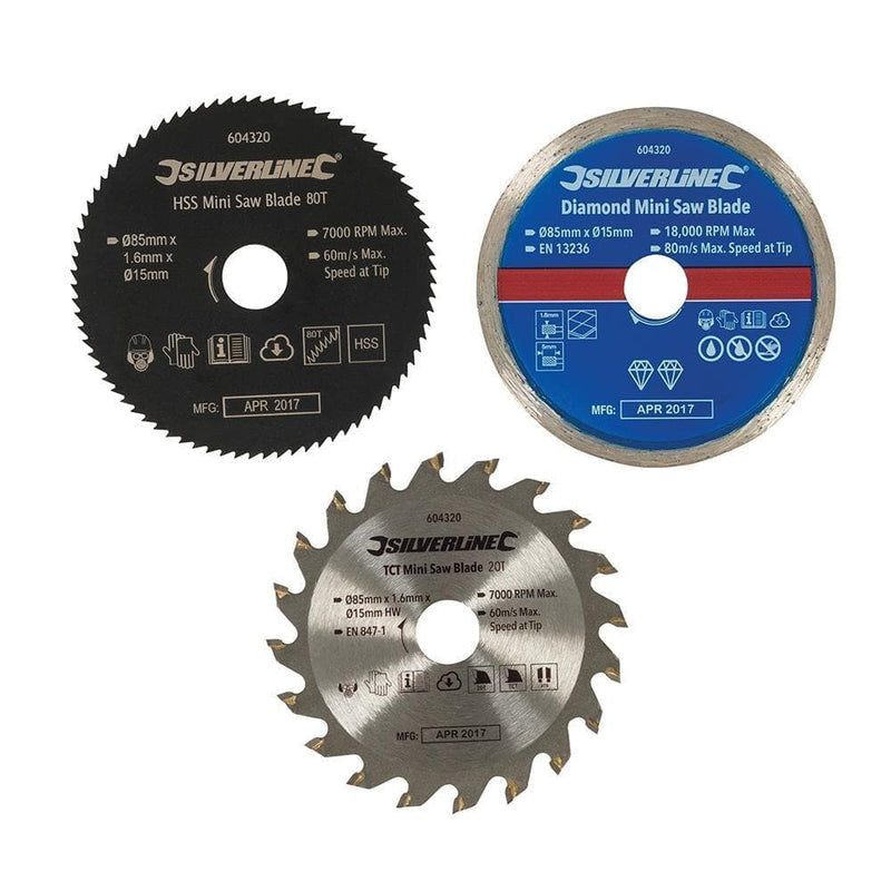 Mini Saw Blade Set 3 Piece - Power Tools - Trade Building Products