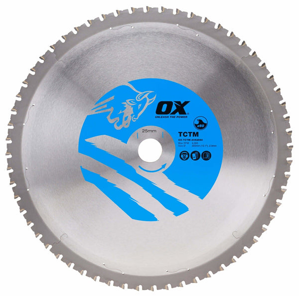 OX Ferrous Metal cutting 305/25.4mm, 60 Teeth TCG - Cutting Blade's - Trade Building Products