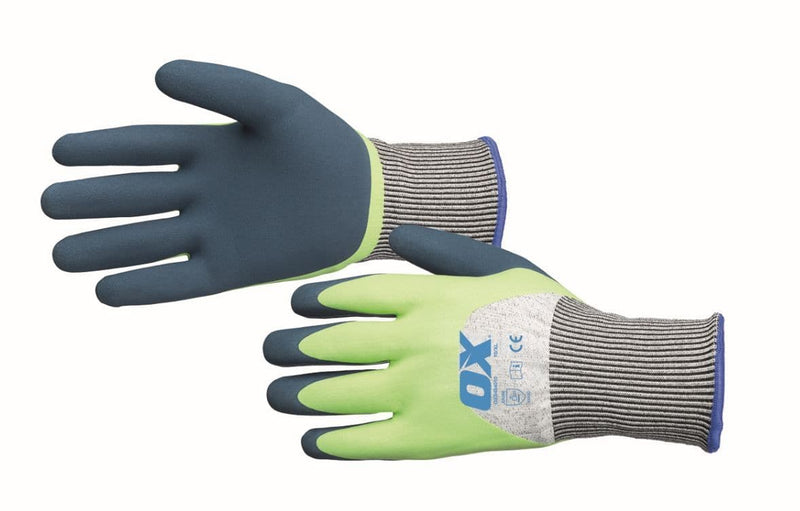 OX Foam Latex Cut C Gloves - Safety Gloves - Trade Building Products