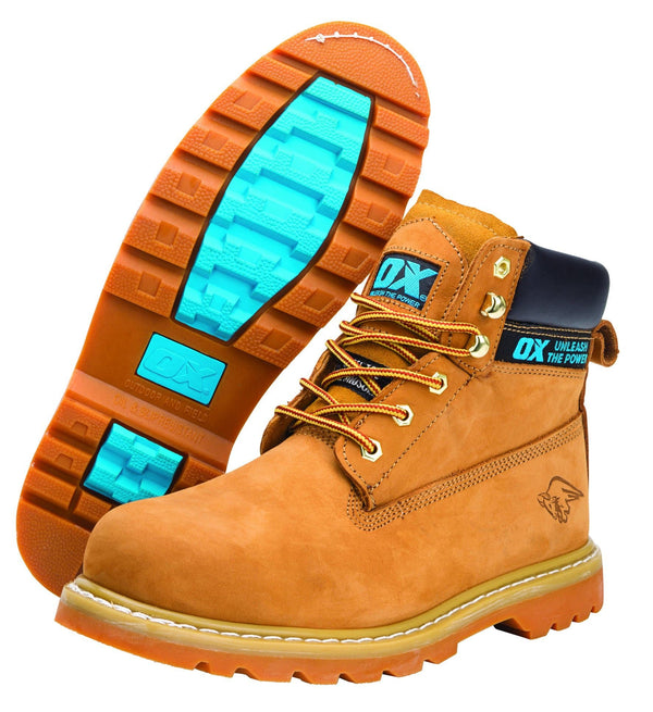 OX Honey Nubuck Safety Boot - Safety Footwear - Trade Building Products