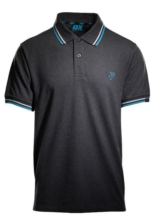 OX Pique Polo Shirt - Charcoal - Top - Trade Building Products