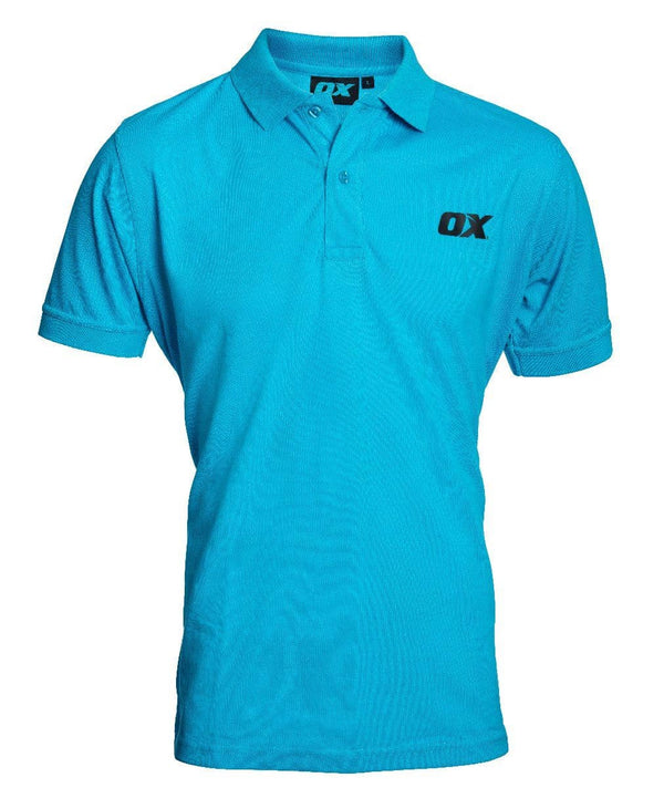 OX Poloshirt - Blue - Top - Trade Building Products