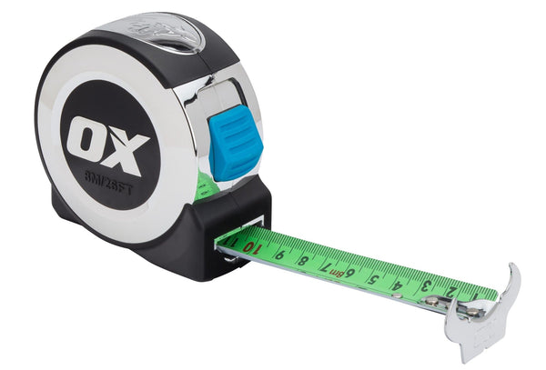 Ox Pro 8m Tape Measure - Tape Measure - Trade Building Products