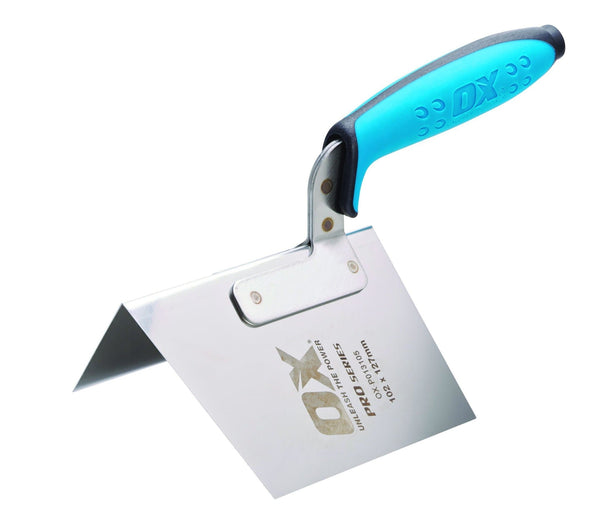OX Pro Dry Wall External Corner Trowel - Plasterers Trowel - Trade Building Products
